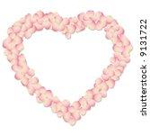 rose petal background | Shutterstock .eps vector #9131722