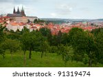 Prague Castle With St. Vitus Cathedral, Czech Republic - stock photo