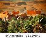 moroccan kasbah in atlas...   Shutterstock . vector #91319849