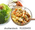 mi quang rice noodle with...