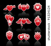 set icons of valentine's day... | Shutterstock .eps vector #91324124