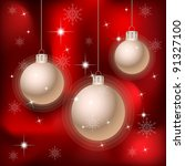 red christmas and new year... | Shutterstock . vector #91327100