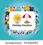 travel card | Shutterstock .eps vector #91330493