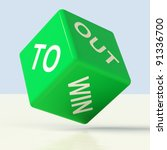 out to win blue dice... | Shutterstock . vector #91336700