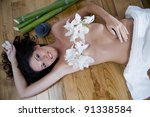 spa massage and relaxation | Shutterstock . vector #91338584