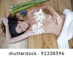 spa massage and relaxation | Shutterstock . vector #91338596