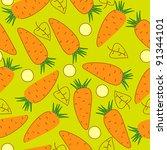 vector texture with carrot | Shutterstock .eps vector #91344101