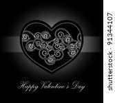 elegant black and white... | Shutterstock .eps vector #91344107
