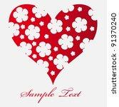 floral heart. beautiful vector... | Shutterstock .eps vector #91370240