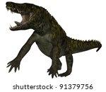 uberabasuchus terrificus  3d... | Shutterstock . vector #91379756