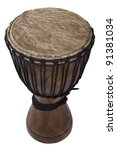 Handmade Wooden Drum With Goat...