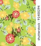 beautiful vector seamless floral | Shutterstock .eps vector #91400294