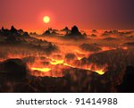 Lava Landscape  Fantasy...