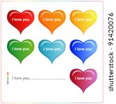 heart valentines day background ... | Shutterstock .eps vector #91420076