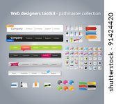 web design toolkit including... | Shutterstock .eps vector #91424420