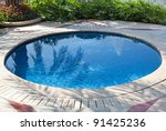 small swimming pool in a yard | Shutterstock . vector #91425236