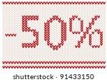sale background knitted design  ... | Shutterstock .eps vector #91433150