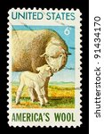 usa   circa 1965  a stamp... | Shutterstock . vector #91434170