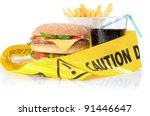unhealthy food caution | Shutterstock . vector #91446647