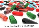 Pills over white background. - stock photo
