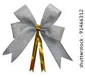 Gift bow. Ribbon. Isolated on white - stock photo