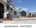 industrial zone conveyor belt... | Shutterstock . vector #91471031