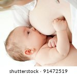 mother breast feeding her infant | Shutterstock . vector #91472519