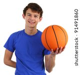a guy with a basketball | Shutterstock . vector #91491860