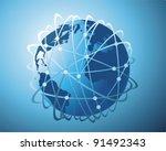world wide data transfer | Shutterstock .eps vector #91492343