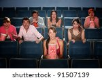 seven people screaming and... | Shutterstock . vector #91507139