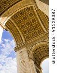 closeup of arc de triomphe ... | Shutterstock . vector #91529387