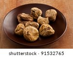 food series  some dried fig om... | Shutterstock . vector #91532765