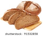 Fresh Bread On The Plate