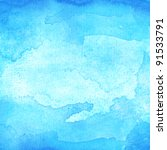 Blue Abstract Watercolor Macro...