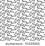 black and white seamless...   Shutterstock .eps vector #91535003