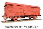 vintage railway wagon isolated | Shutterstock . vector #91535057