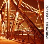 support above the bridge  steel ... | Shutterstock . vector #91561247