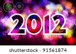 elegant  colorful new year's... | Shutterstock . vector #91561874
