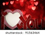 Heart Shaped Photo Frame On...