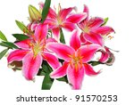 Bunch Of Pink Oriental Lilies...