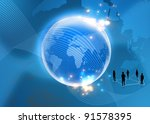 business Concept of global - stock photo