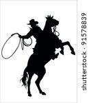 Cowboy And Horse