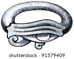 egyptian glazed earthen ring  ...   Shutterstock . vector #91579409