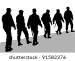 image of police in form of... | Shutterstock . vector #91582376