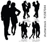 couple man and woman in love... | Shutterstock .eps vector #91587044