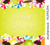 birthday card   Shutterstock . vector #91595294