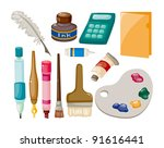 stationery set | Shutterstock .eps vector #91616441