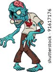 Cartoon Zombie. Vector...