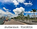 singapore march 13  marina bay... | Shutterstock . vector #91618316