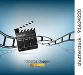 cinema clapper and film vector... | Shutterstock .eps vector #91624220